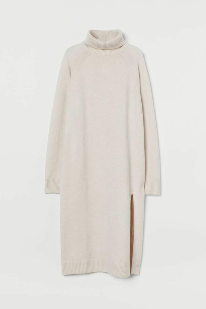 stickad poloklänning H&M