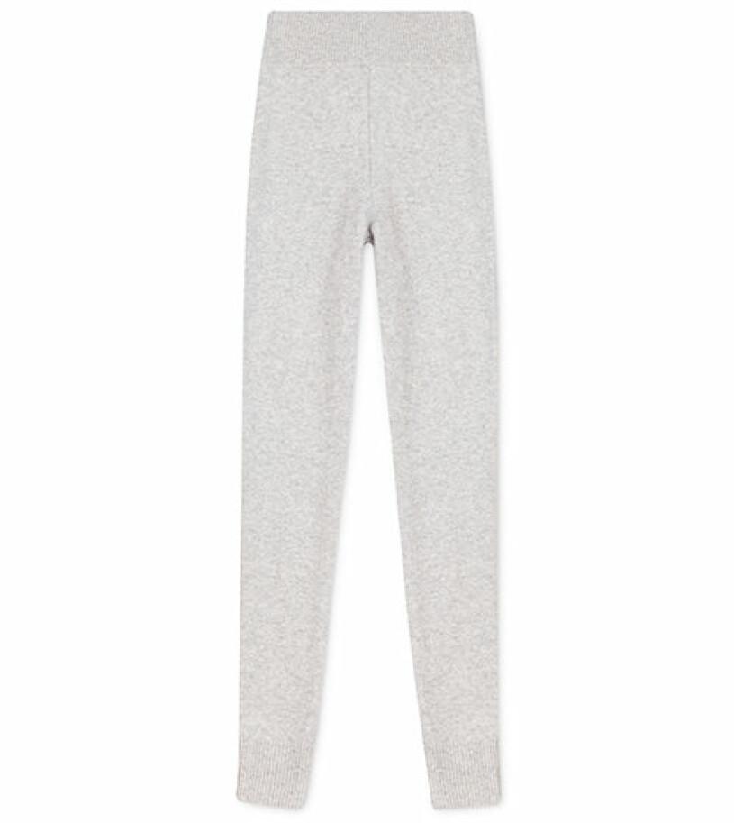 stickade grå leggings softgoat