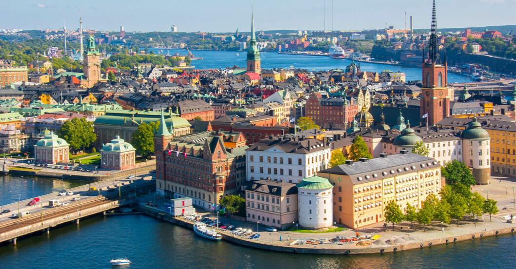 Stockholms innerstad.