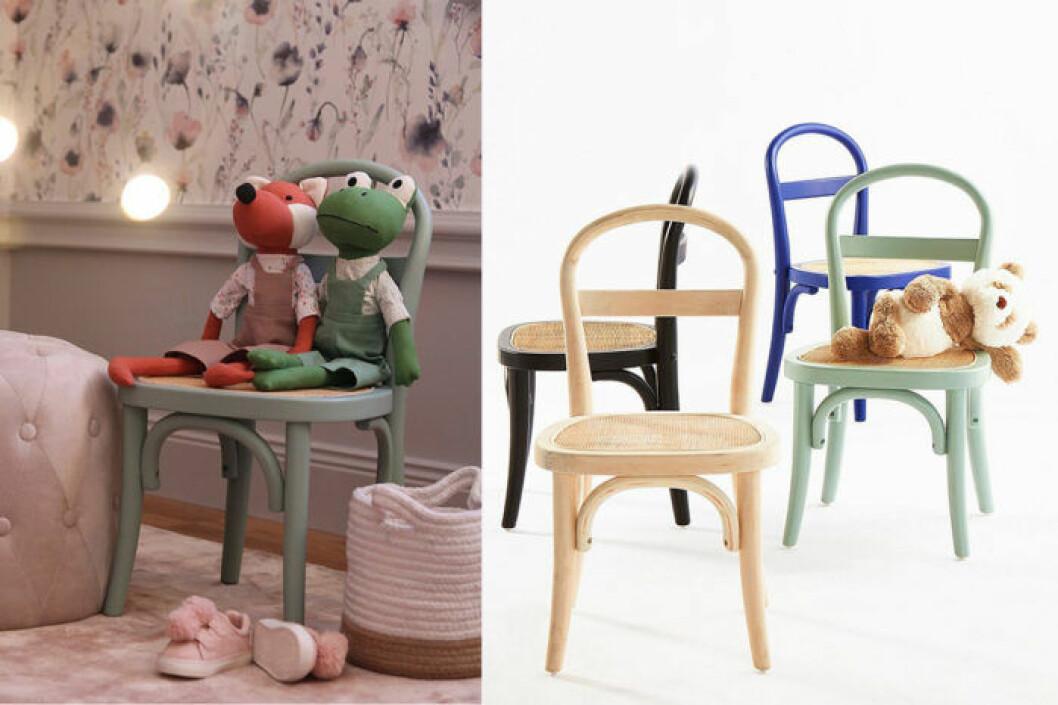 barnstol med flätad sist