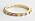 Guldfärgad ring med olikfärgade stenar. Ring från And other stories.