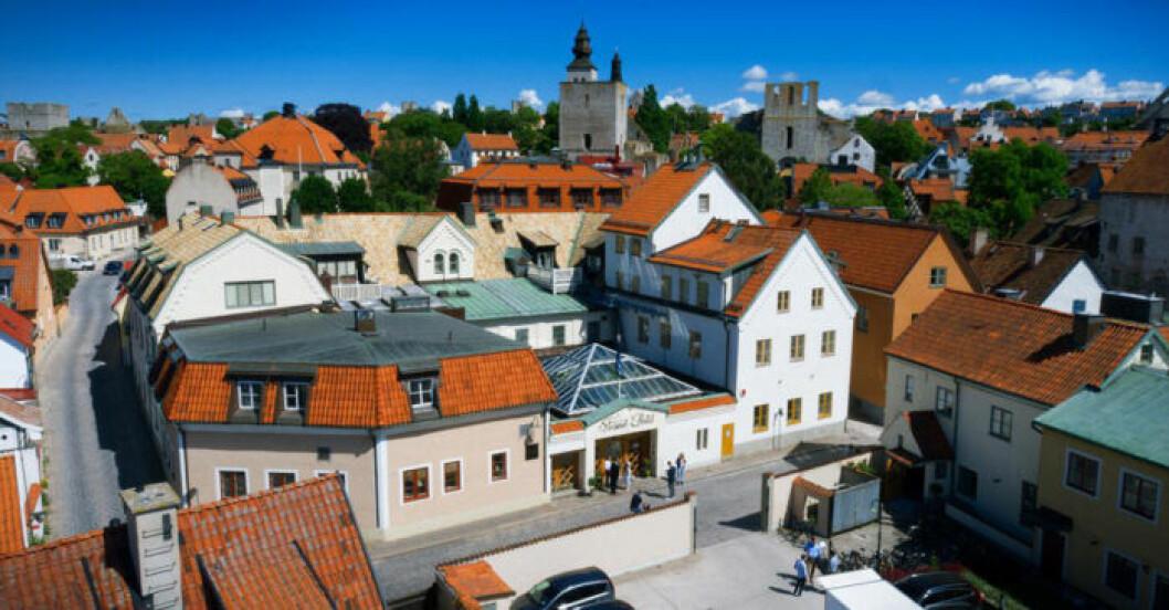 Hotell i centrala Visby, nära till färjan
