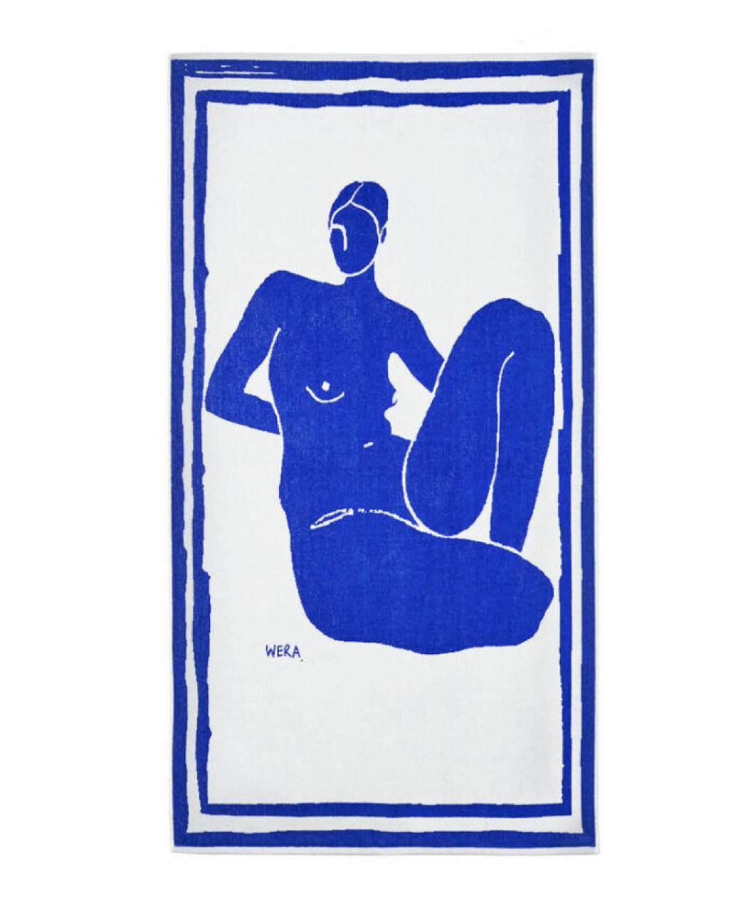 Strandhandduk med motiv från Wera