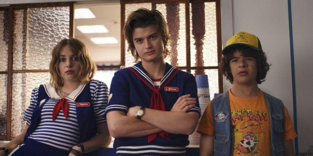 En bild på några karaktärer från Netflix-serien Stranger Things, säsong 3.
