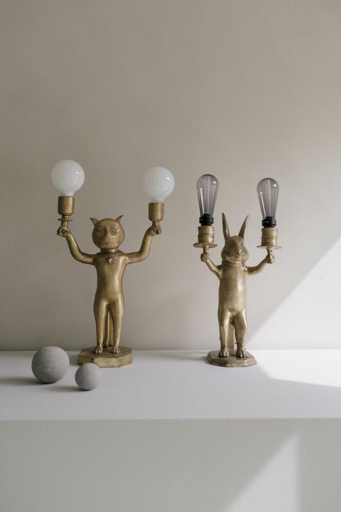 Lampa Straw djur