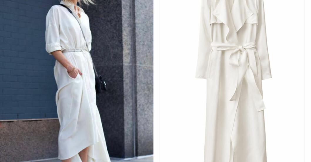 kvinna i helt vit outfit
