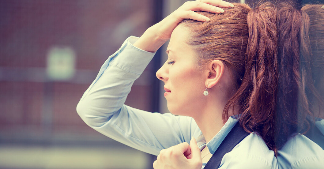 Ung kvinna med symtom på stress och ADT