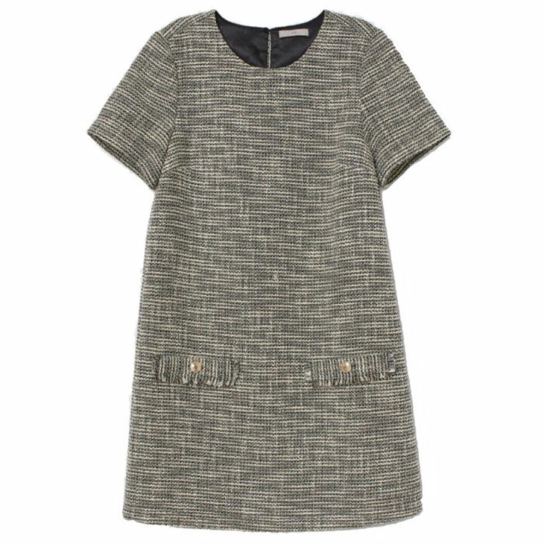 Strukturvävd klänning från H&M