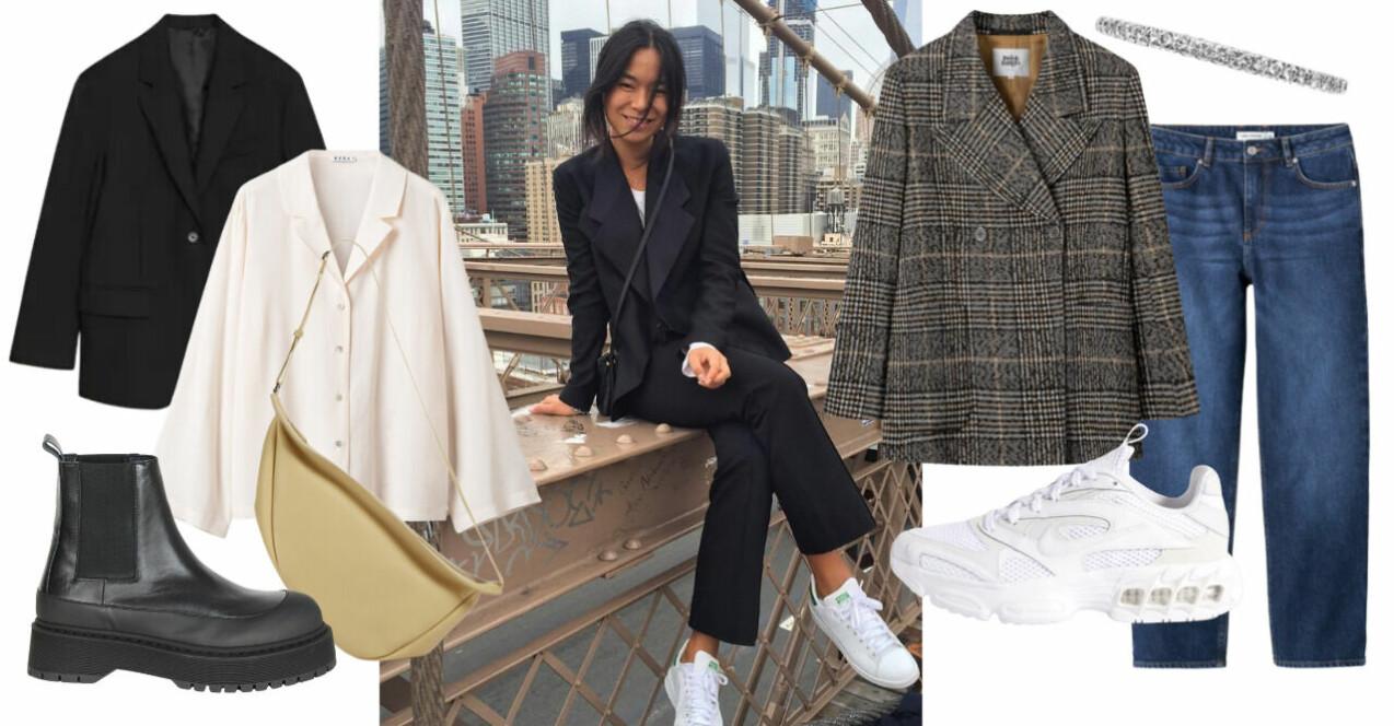Inspirationsollage med plagg och accessoarer från stylisten Annika Normans favorittrender. Samtliga produkter beskrivs mer i artikeln nedan.