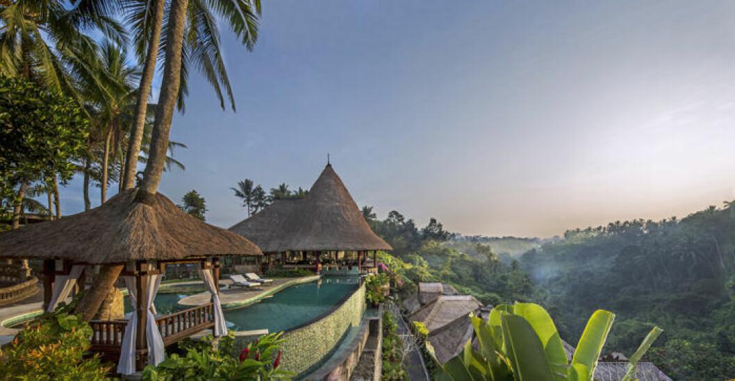 Vy över resorten Viceroy Bali