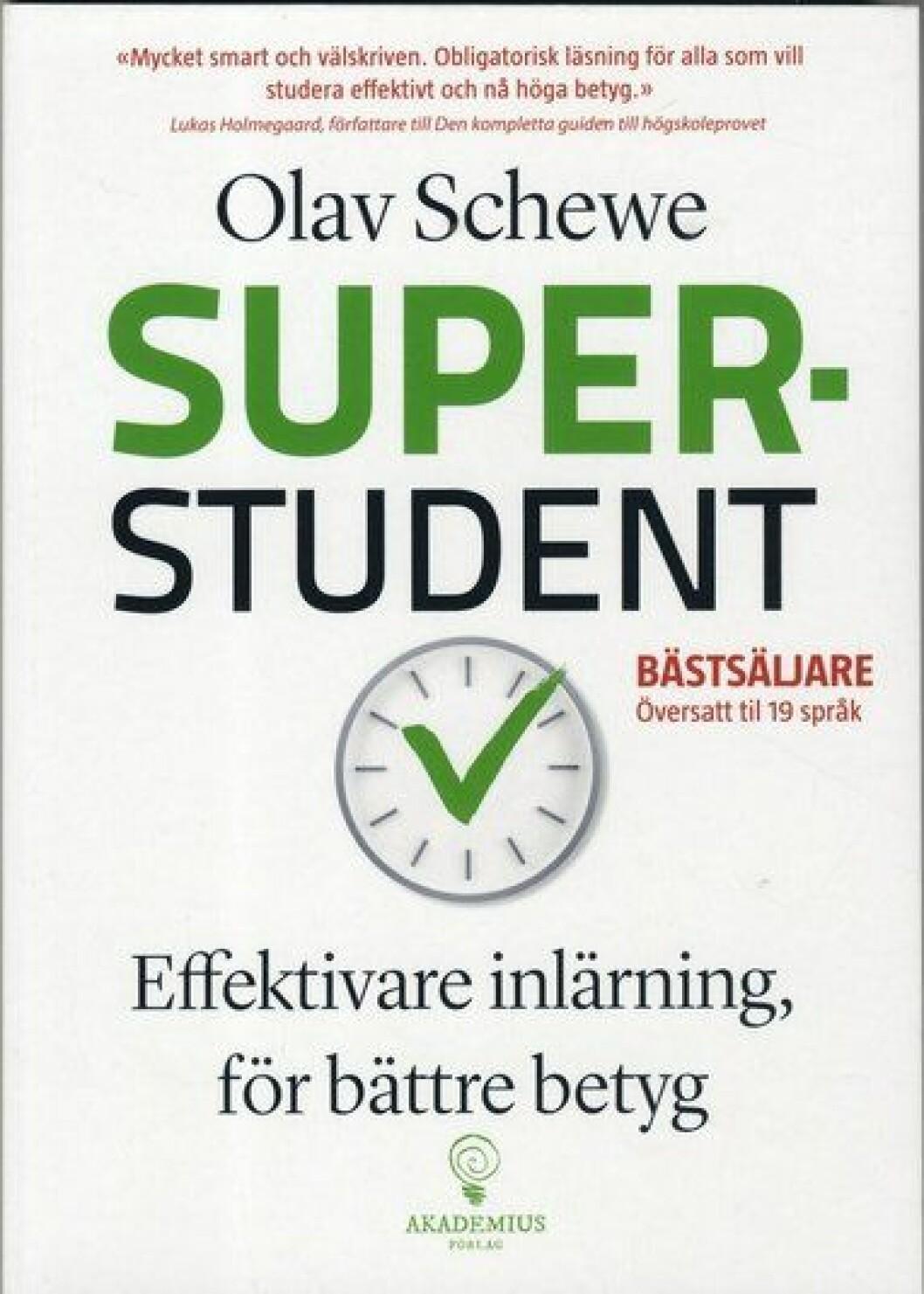 Bokomslag till Superstudent, en klocka med ett grönt checkmärke.