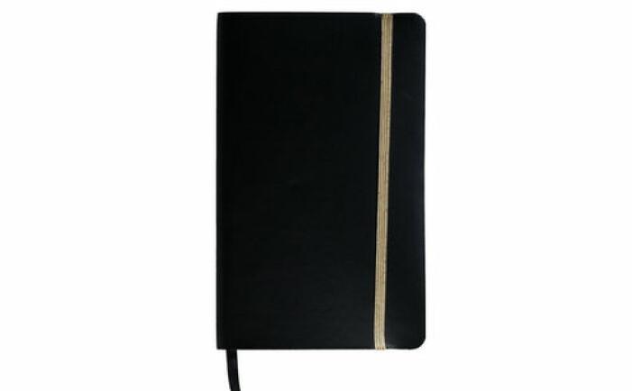 Svart anteckningsbok från Hedlunds