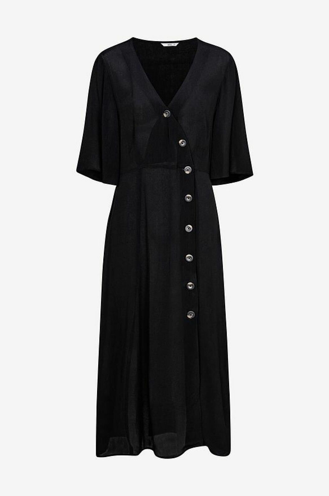 Svart klänning med knappar