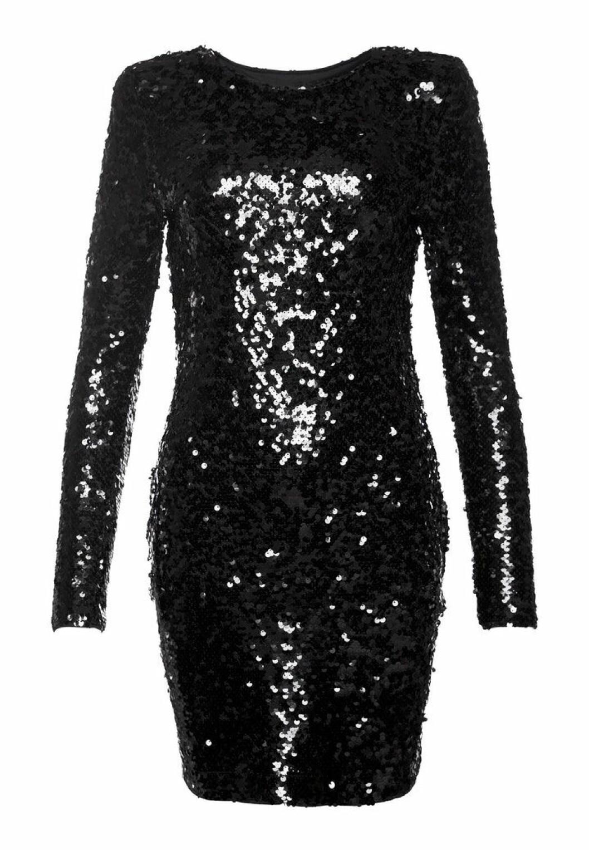 Svart paljettklänning från IvyReve
