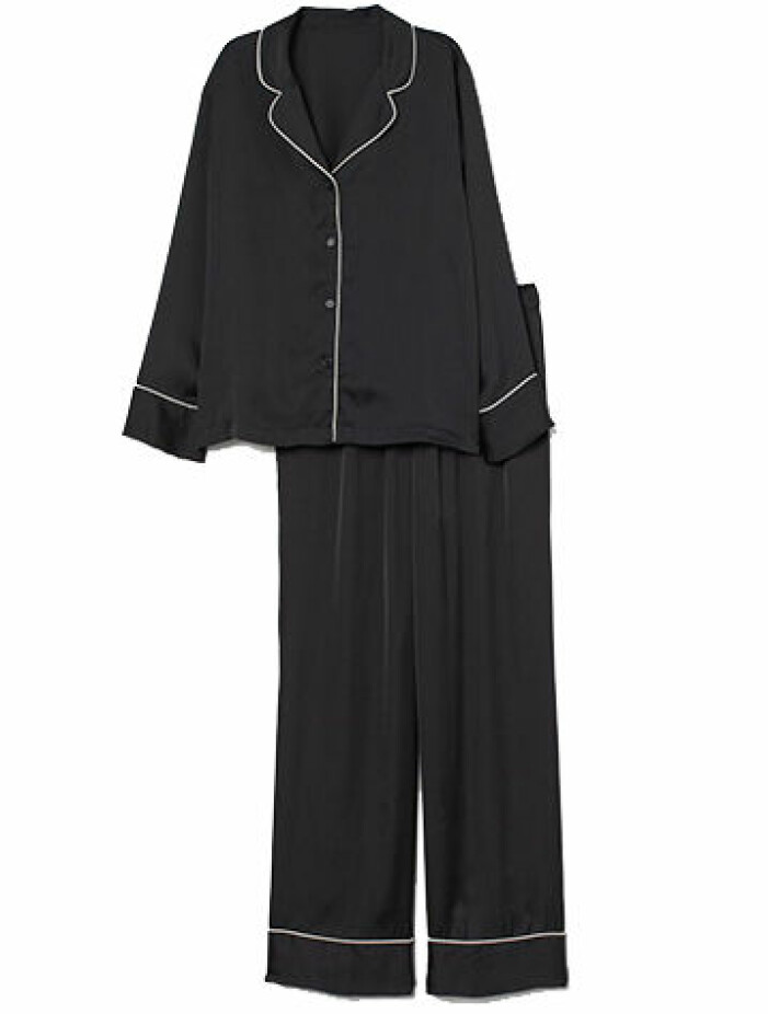 svart pyjamas hm