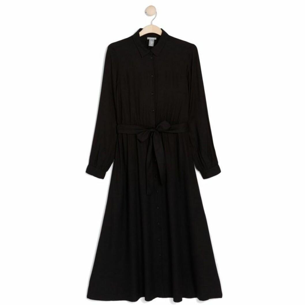 Svart skjortklänning från Lindex