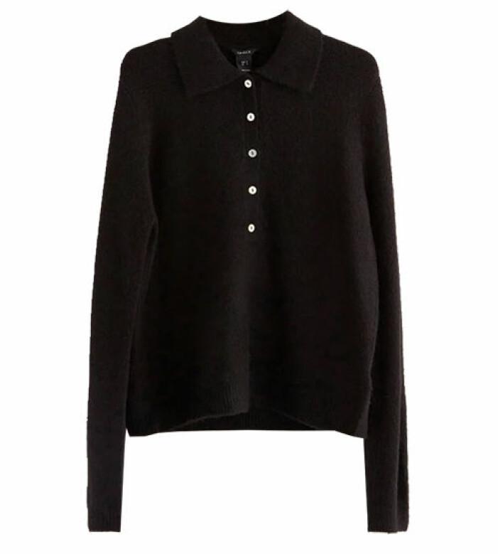 svart stickad skjorta