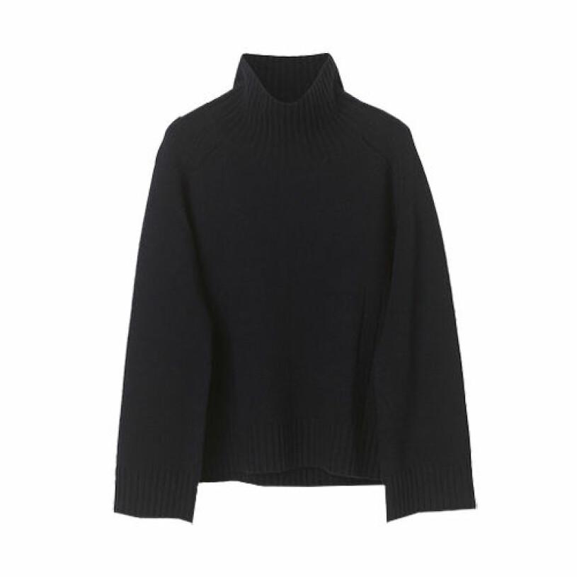 svart stickad tröja från by malene birger
