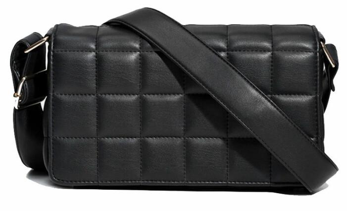 svart väska glitter