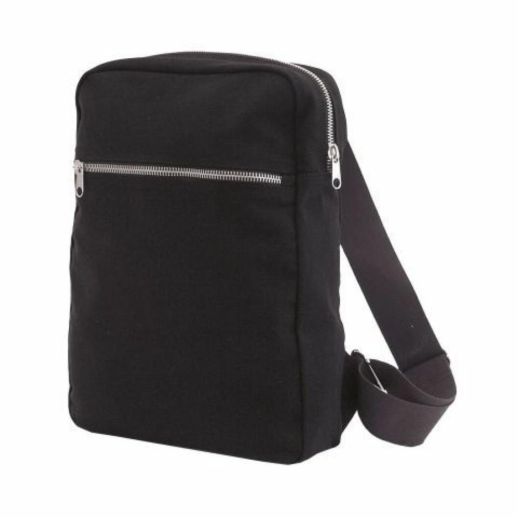 Granits klassiska ryggsäck i svart canvas