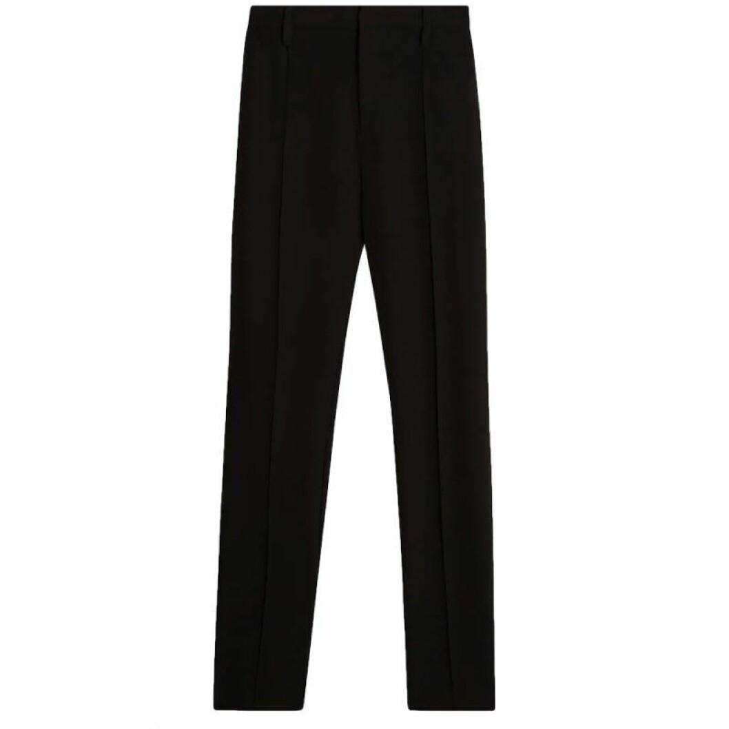 Svarta kostymbyxor med slits på sidan
