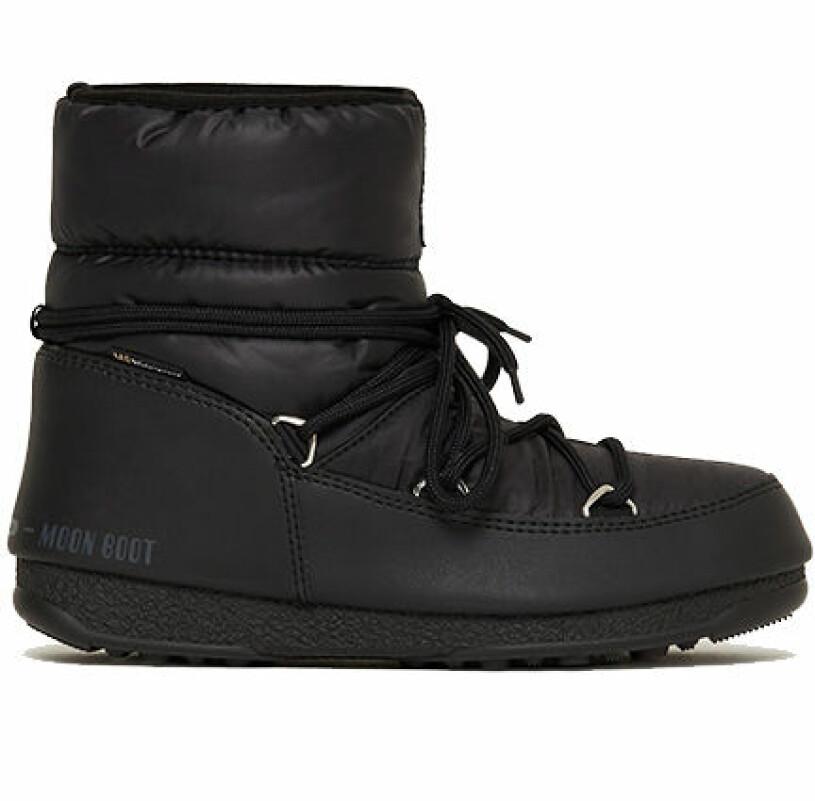 svarta vinterskor moonboots