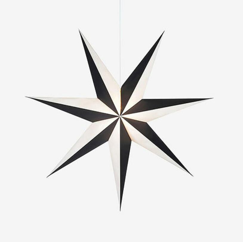 Svartvit julstjärna från Markslöjd