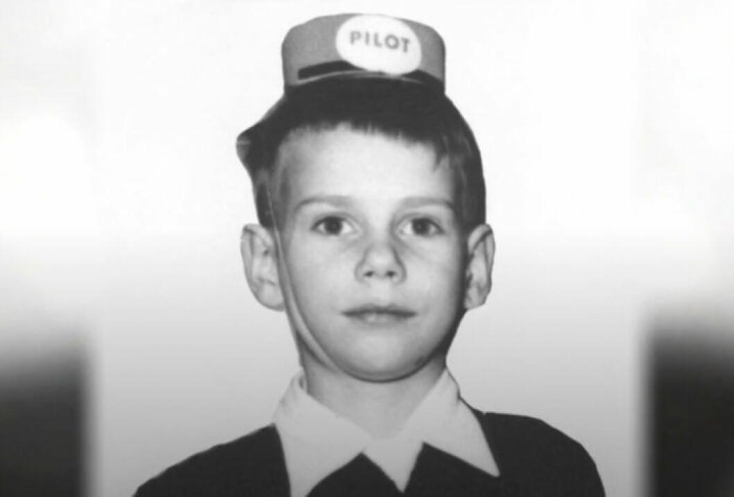 Sven Melander som barn.