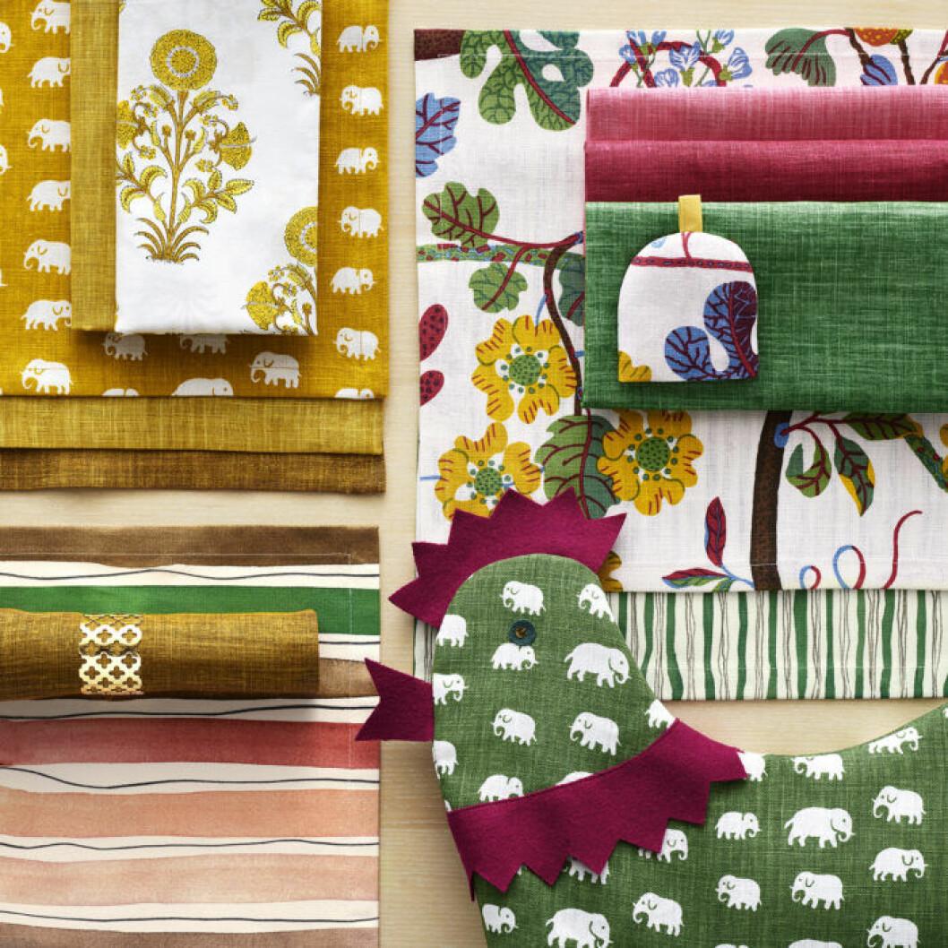 Textilier med påskmotiv hos Svenskt tenn