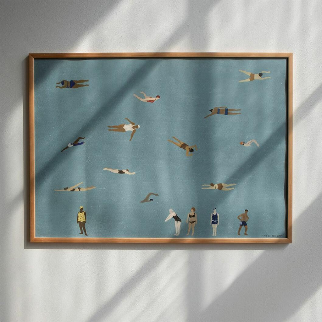 Swimmers poster från Fine Little Day