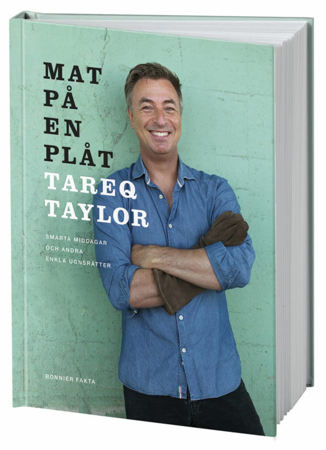 Kokboken Mat på en plåt – smarta middagar och andra enkla ugnsrätter av Tareq Taylor.
