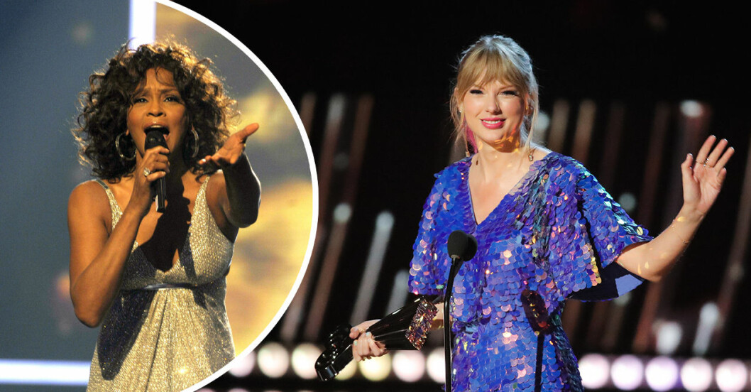 Whitney Houston och Taylor Swift.