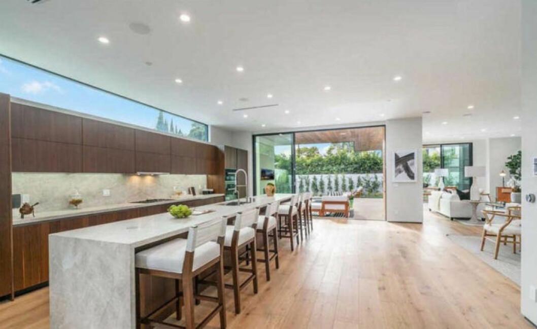 John Legend och Chrissy Teigens nya hus, vardagsrum