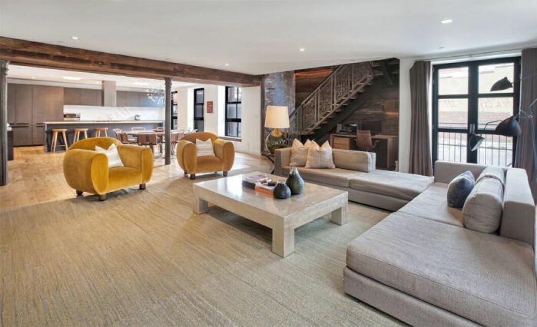 John Legend och Chrissy Teigens nya lägenhet i New York, vardagrsrum
