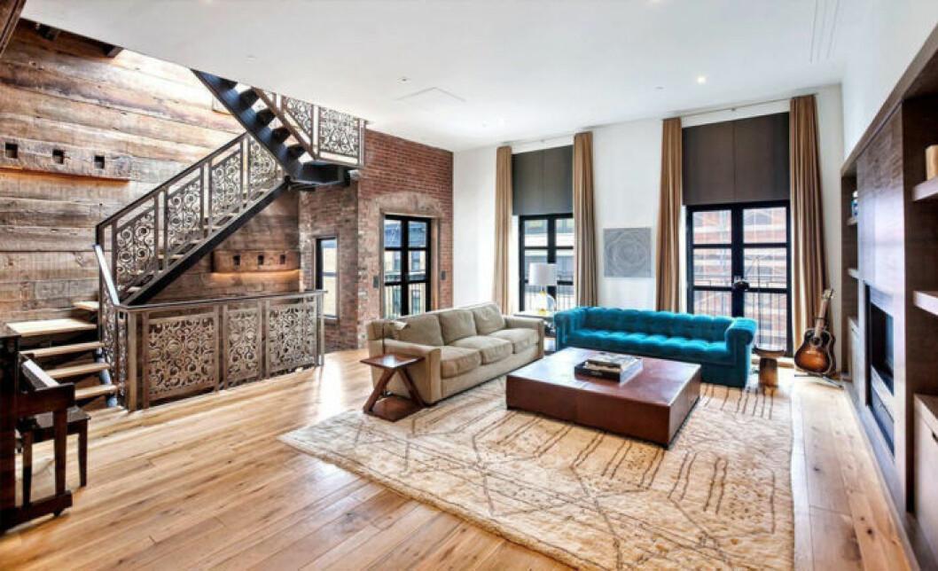 John Legend och Chrissy Teigens nya lägenhet i New York, vardagsrum