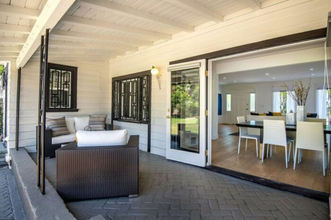 Meghan Marke terass i sitt gamla hem i LA