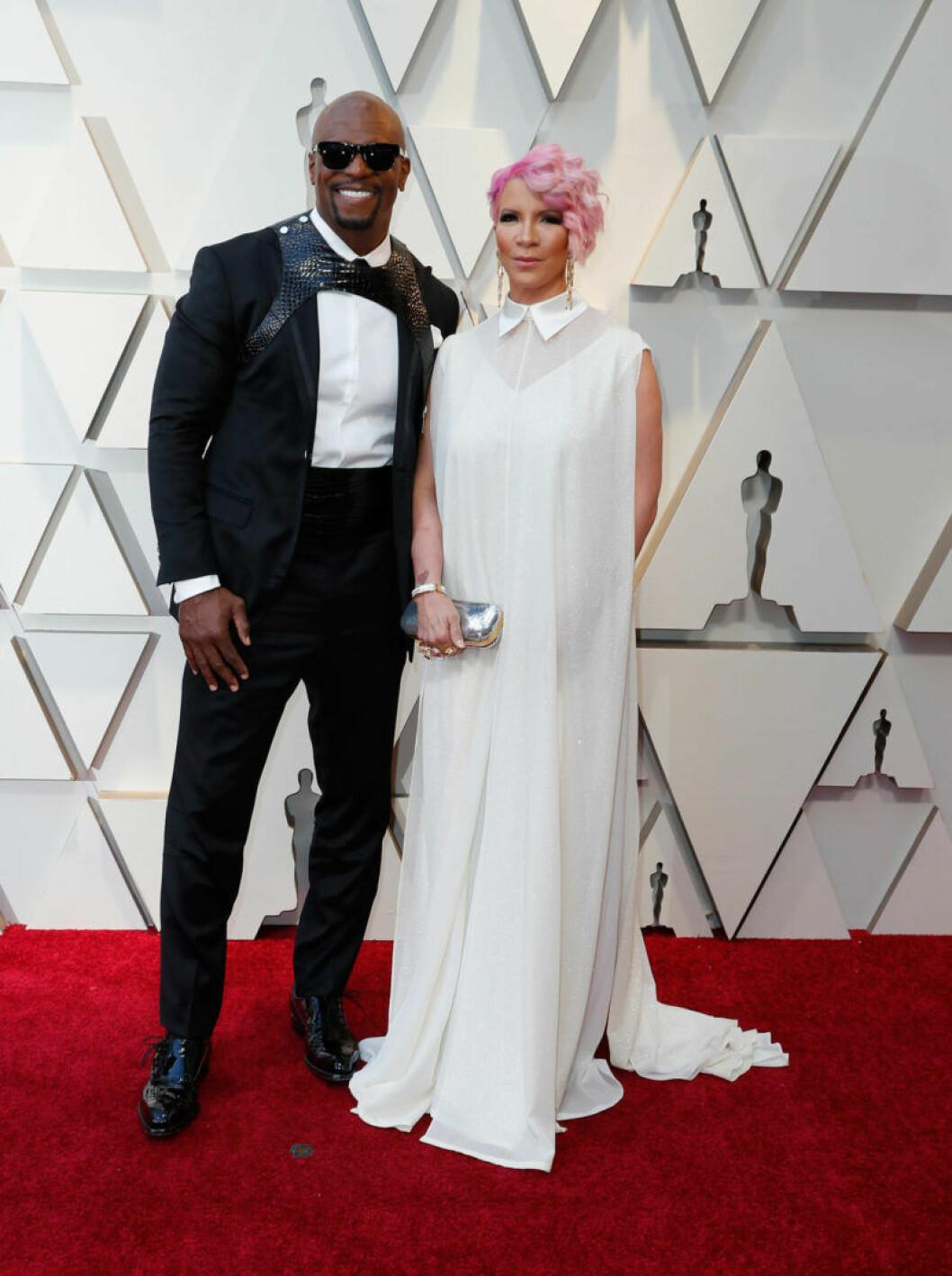 Terry Crews och Rebecca King på Oscarsgalan 2019
