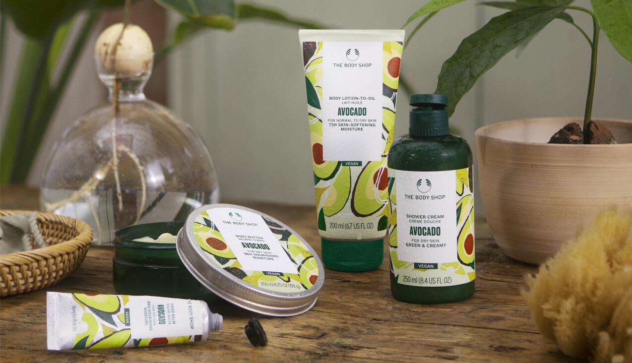 vegansk kroppsvård med välgörande avocado