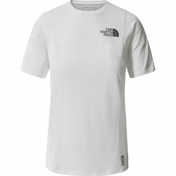 Vit t-shirt med korta ärmar och svart logga på bröstet. T-shirt från The North face.