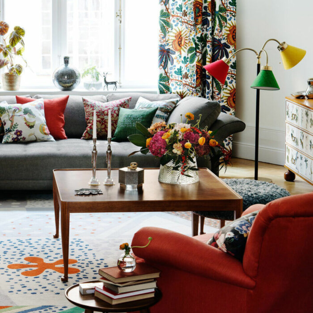 Designklassiker kan vara färgstarka och brokiga