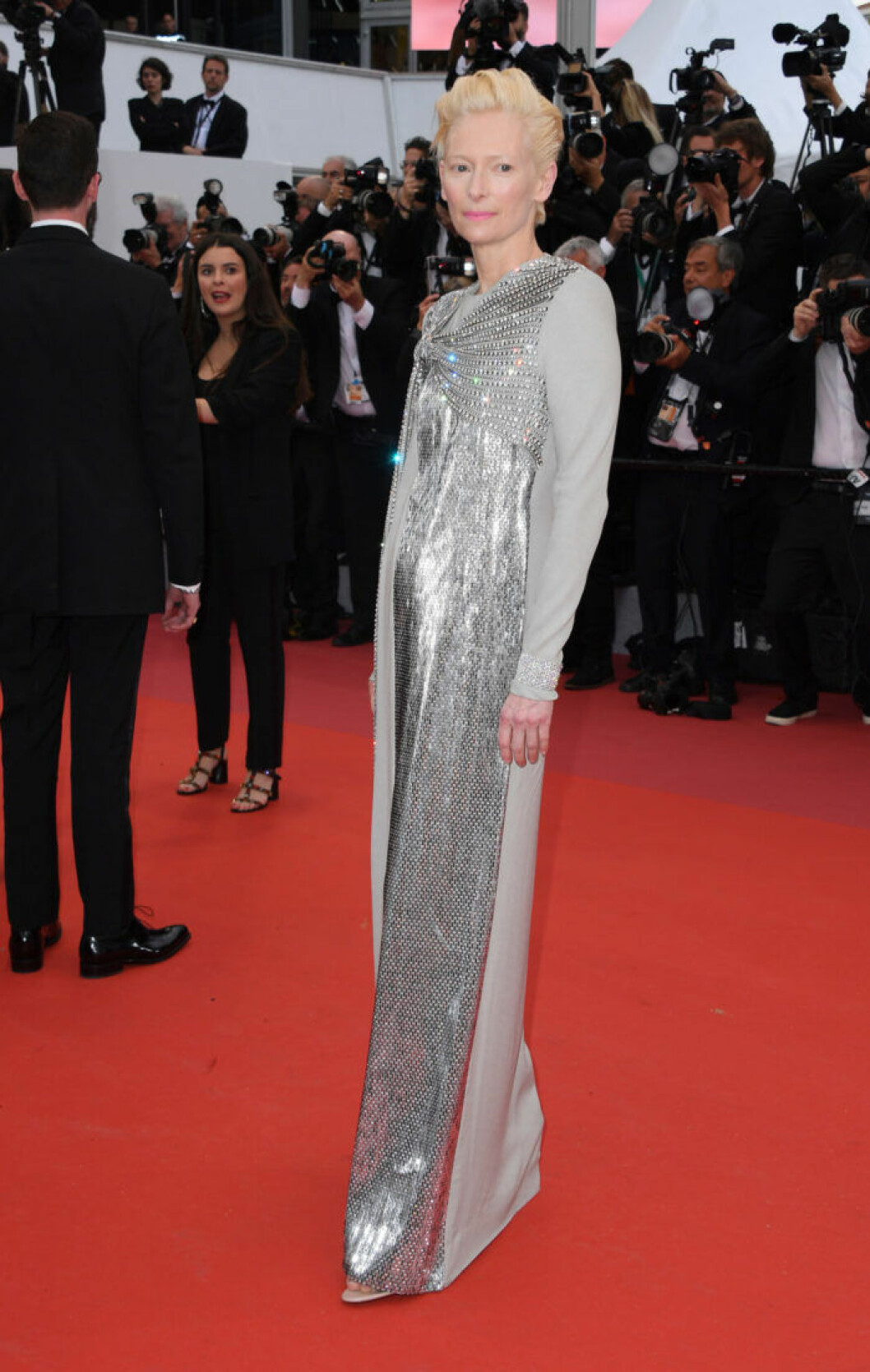 Tilda Swinton på filmfestivalen i Cannes 2019