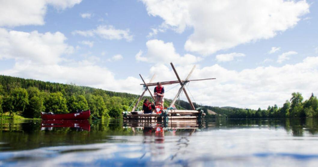 Paddla timmerflotte längs Klarälven