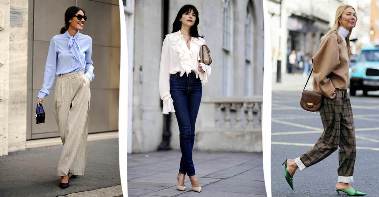 Tre kvinnor i outfits med detaljer som gör att din look ser dyrare ut än vad den egentligen är. Läs artikeln för närmare beskrivning.