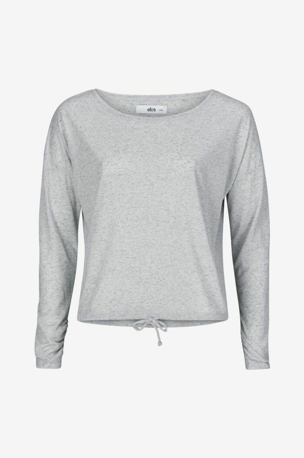Grå långärmad yogatopp