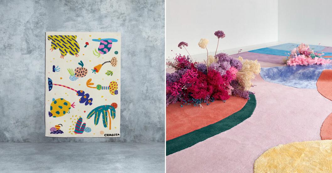 Trendiga mattor med konst