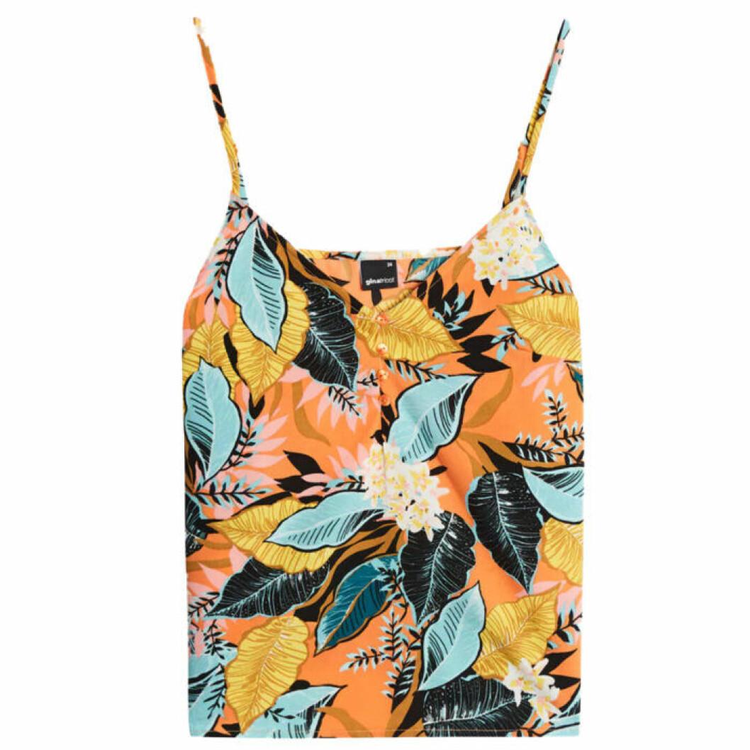 linne med blommor och blad från Gina tricot