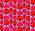 Bild på blommönstrat tyg med rosa och röda blommor på. Tyg från Marimekko.