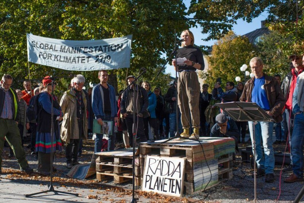 Greta Thunbergs strejk för klimatet ägde bland annat rum i Umeå
