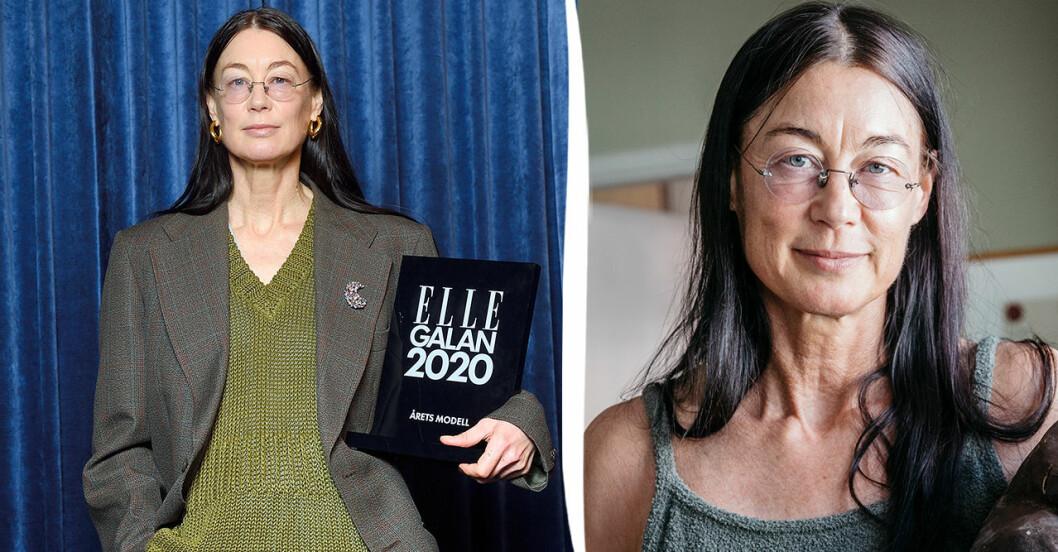 Ursula Wångander har blivit modell efter 50.