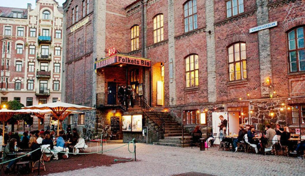 Uteserveringen på Hagabion i Göteborg.